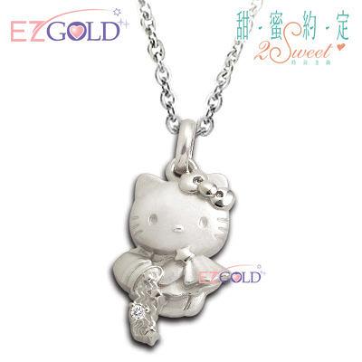 Hello Kitty凱蒂貓-水瓶座(1/20~2/18)-星座銀飾墜子