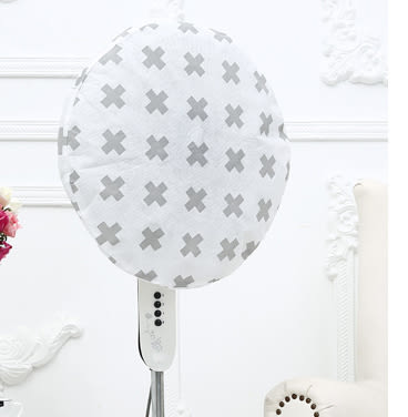 Qmishop 北歐風時尚簡約布藝風扇罩 五角星  十字架  波點【J1910】
