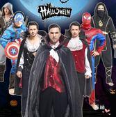 降價兩天-萬聖節成人服裝男成人吸血鬼海盜美國隊長超人蜘蛛俠表演服集合款