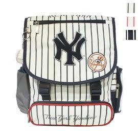 Backbager 背包族【MLB 美國大聯盟 洋基】超輕量棒球條紋系列專業書包/書包/後背書包 白色