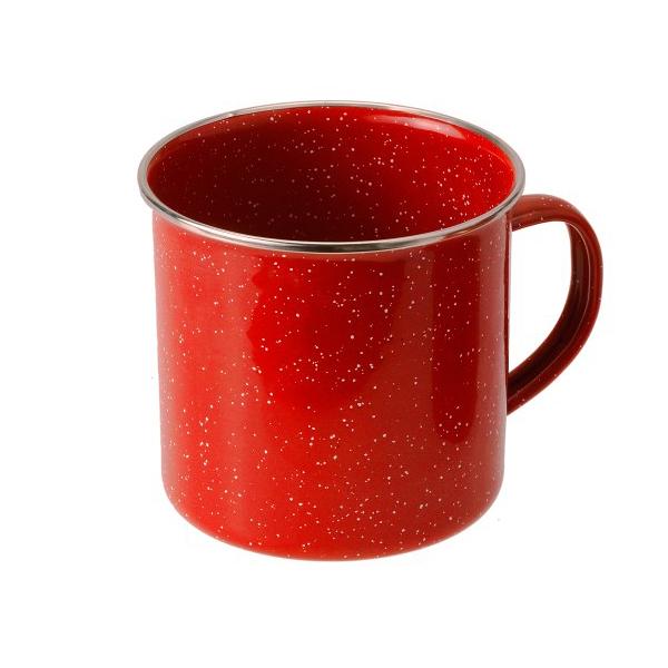 [GSI] Cup Stainless Rim 紅色砝瑯杯 12 fl. oz. (04208) 秀山莊戶外用品旗艦店