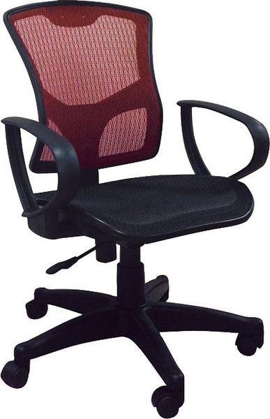 HY-Y174-7 中型辦公椅(238R/無枕/紅網)