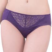 思薇爾-深V誘惑系列M-XXL蕾絲中腰三角內褲(火星紫)