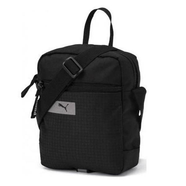PUMA VIBE 黑 反光LOGO 隨身 小方包 側背包 (布魯克林) 07549301