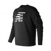 New Balance  男裝刷毛長袖 經典款 黑 NO.AMT83569BK
