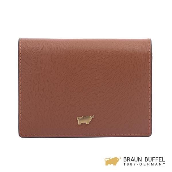 【南紡購物中心】【BRAUN BUFFEL】LINUS 萊勒斯系列名片夾 - 咖色 BF638-141-TAN