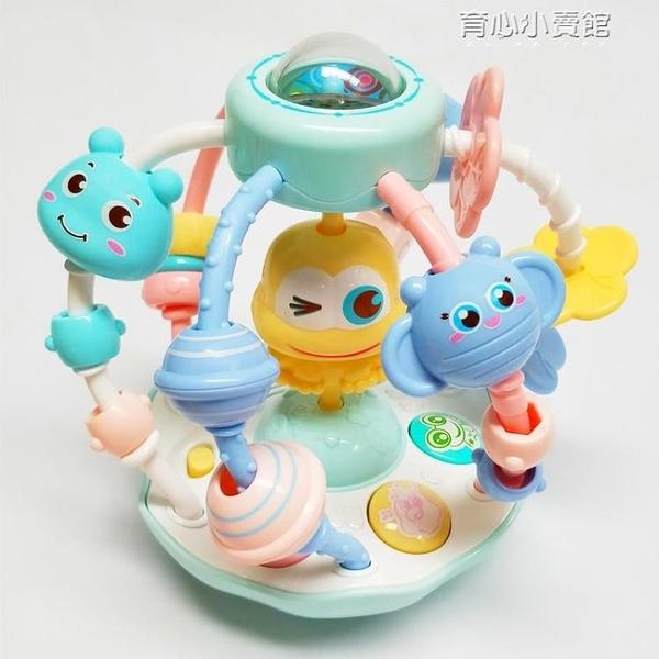 3-5-6-7-12個月嬰兒益智力玩具青蛙搖鈴三男孩兩女寶寶音樂手抓球 育心館