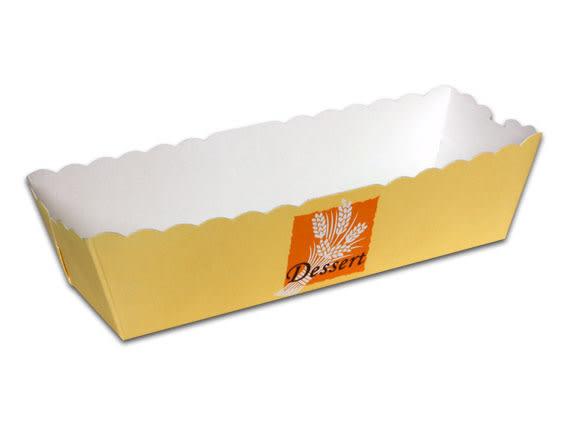 30入 220cc 黃色麥穗 長方蛋糕盒 烘焙紙盒 紙烤模F140