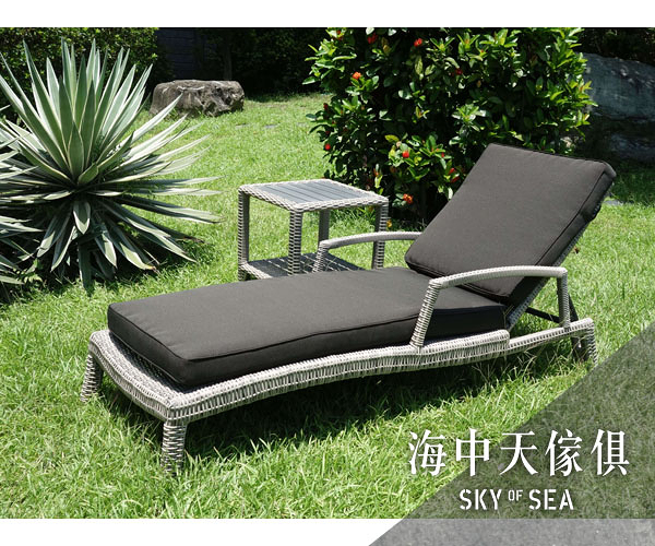 {{ 海中天休閒傢俱廣場 }} G-52 摩登時尚 躺床躺椅系列 74-3 躺椅組(含邊几)
