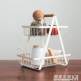 半宅鐵藝雙層收納籃衛生間浴室書桌面雜物花架調味品罐廚房置物架 遇見生活