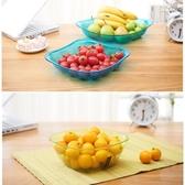 龍士達多彩盤子創意歐式時尚 塑料大容量水果盤婚慶糖果盤