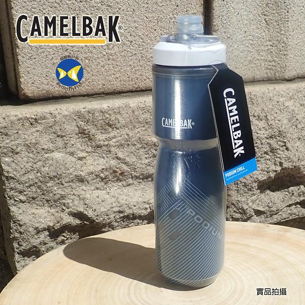 [Camelbak 公司貨] Camelbak 710ml Podium 2倍保冷 噴射水瓶 海軍藍