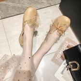 豆豆鞋 單鞋女夏款正韓百搭淺口平底一腳蹬豆豆鞋晚晚溫柔仙女鞋-Ballet朵朵