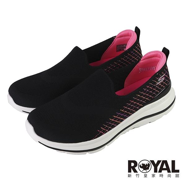 Skechers Go Walk Stretch Fit 黑桃色 彈性織布 運動健走鞋 女款 NO.J0719 【新竹皇家124385W-BKMT】