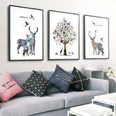 壁畫簡約客廳裝飾畫沙發后面的掛畫臥室餐廳三聯壁畫沙發背景墻裝飾畫