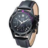 ALBA 時尚系3眼計時腕錶-IP黑(AT3159X1)
