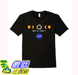 [106美國直購] 2017 NASA 太空總署日蝕 T shirt 男生款 NASA Total Solar Eclipse T-Shirt August 21 2017