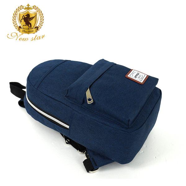 肩背包 日系簡約防水前口袋男包女包斜胸包後背包包 NEW STAR BK228