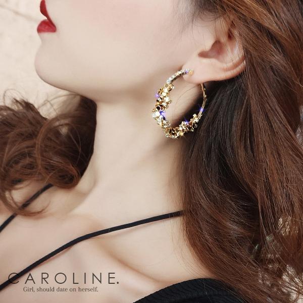 《Caroline》★韓國熱賣造型時尚  浪漫風格,優雅性感耳環70457