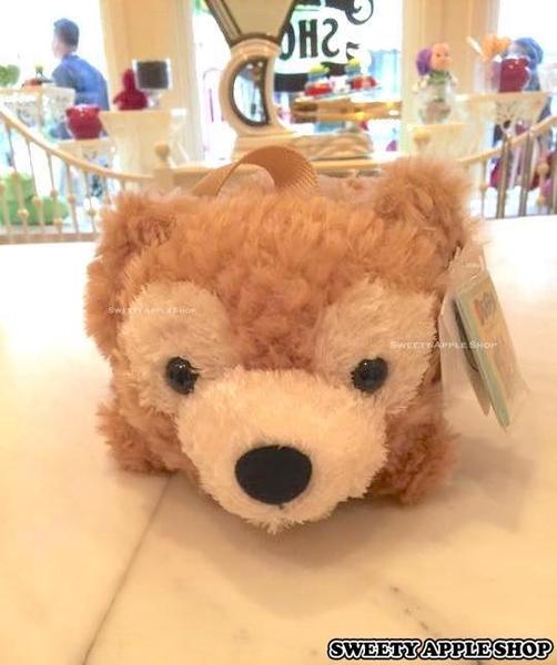 香港迪士尼樂園限定 達菲 DUFFY 趴姿 2WAY 絨毛玩偶手提&側肩包包 (樂園實拍商品圖)