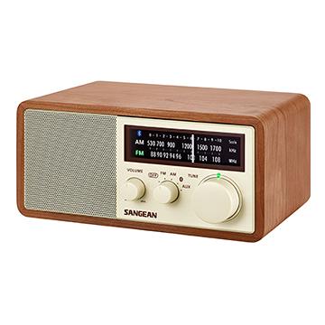【山進 】Sangean WR16 藍芽 USB 調頻、調幅二波段復古收音機【公司貨】