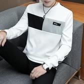 秋裝男士長袖t恤韓版青年春秋潮上衣打底衫外套新款衛衣男秋衣服