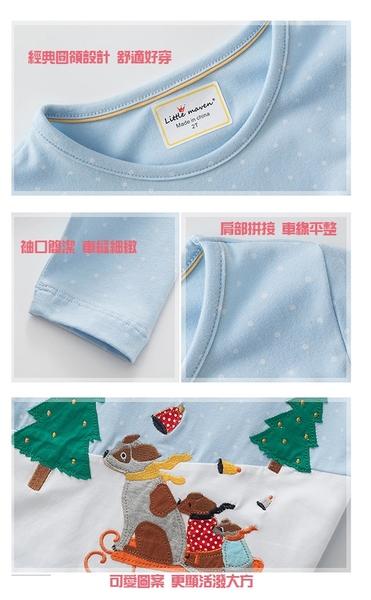 男童 純棉長袖T恤-雪地