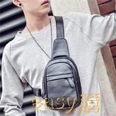 新款大容量男士帆布韓版胸包單肩斜挎大號戶外背包