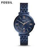 FOSSIL Jacqueline 藍色經典不鏽鋼手錶 女 ES4094