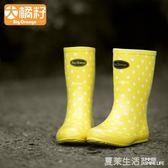 雨鞋 BDFrange女款女士時尚女成人韓國可愛中筒夏季雨鞋套鞋雨靴水鞋·夏茉生活