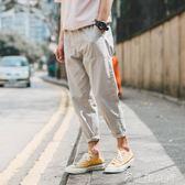 褲子男韓版潮流新款修身小腳褲男士青少年寬鬆九分束腳休閒褲      伊鞋本鋪