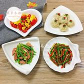 水果盤  陶瓷盤純白家用菜盤西餐盤牛排平盤創意餐具點心水果盤子碟子  【萊夢衣都】