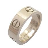 Cartier 卡地亞 Love Ring 18K白金戒指 #48 【BRAND OFF】