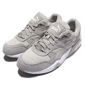 Puma 慢跑鞋 R698 灰 白 麂皮鞋面 基本款 運動鞋 男鞋【PUMP306】 36059202