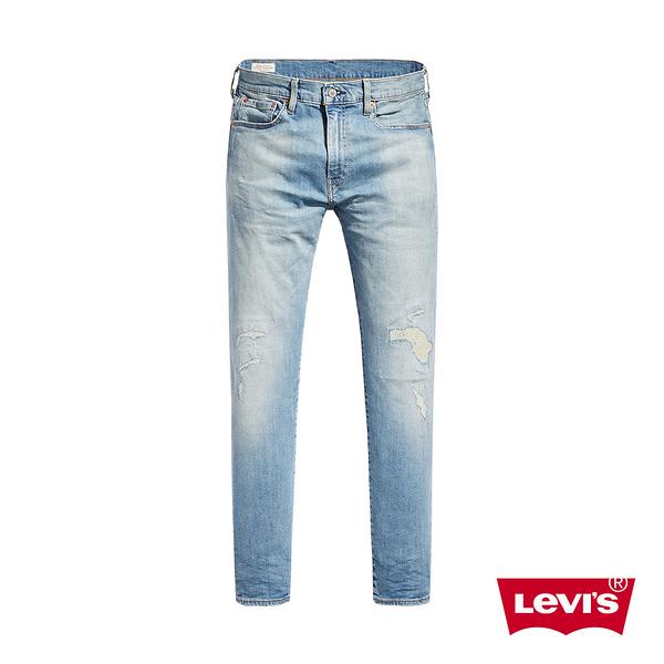 Levis 男款 上寬下窄 512 低腰修身窄管牛仔褲 / 復古補丁水洗工藝 / 彈性布料