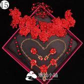 緣來新娘頭飾紅色三件套裝頭花韓式 潮流小鋪