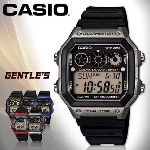 CASIO手錶專賣店 卡西歐 AE-1300WH-8A 男錶 銀框 電子錶 運動 防水100米 LED照明 橡膠錶帶