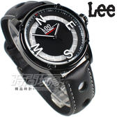 Lee 科技方向 潮流個性腕錶 皮帶 男錶 IP黑色x銀 LES-M14DBL1-17