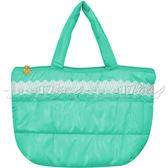 ☆17go☆ ETTUSAIS 艾杜紗 蕾絲空氣手提包(蘋果綠)