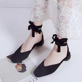 女鞋網紅包頭涼鞋女仙女風ins超火坡跟一腳蹬奶奶鞋 伊鞋本鋪
