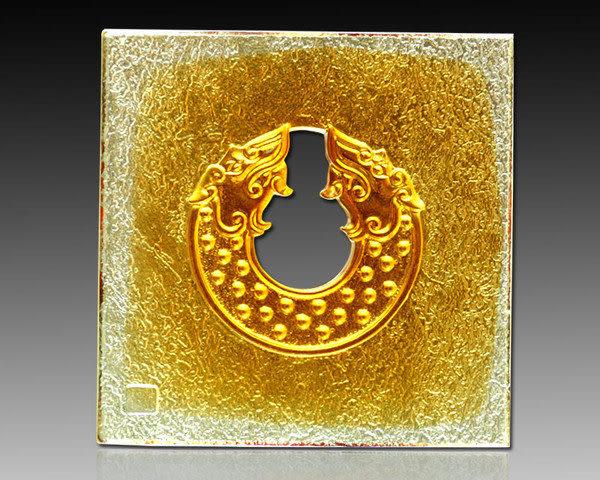 鹿港窯~居家開運琉璃磚【雙龍璧】 附古法製作珍藏保證卡◆免運費送到家