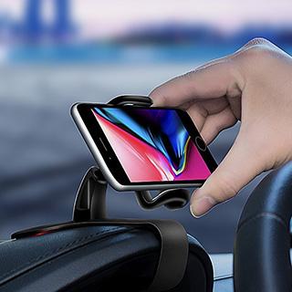 手機架 儀表板夾 車用手機架 GPS 導航支架 360度旋轉 HUD 汽車用品 儀表板手機架 米菈生活館【L121】