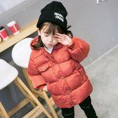 反季特價兒童棉服男童中長款加厚外套中小女童連帽羽絨棉襖寶寶裝 草莓妞妞