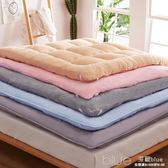 加厚床墊床褥子1.5m1.8m米可折疊榻榻米雙人單人學生宿舍墊被YYJ 深藏blue