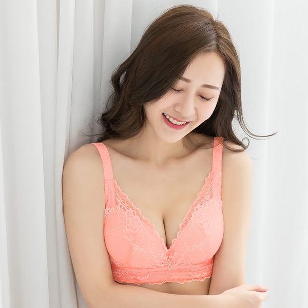 內衣 (B-E)春漾迷戀蠶絲嫩白蕾絲機能款(粉色)【Daima黛瑪】
