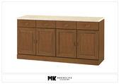 【MK億騰傢俱】BS311-02樟木色仿石紋面5.3尺碗盤下櫃