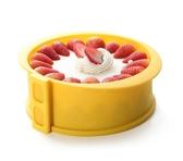 烤盤6寸蛋糕模具家用慕斯芝士圓形硅膠活底不沾烘焙模具套裝WD 晴天時尚館