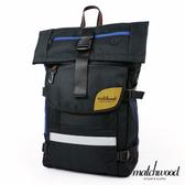 MATCHWOOD - 17吋筆電後背包 - 黑藍