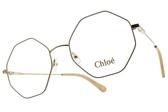 Chloe 光學眼鏡 CL2134 743 (象牙-金) 時尚潮流 多邊設計款 # 金橘眼鏡