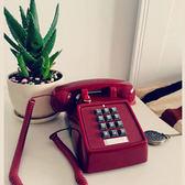 老按鍵式仿古復古座機 古董電話機美式機械振鈴創意時尚話機    琉璃美衣
